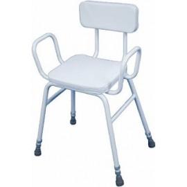 Shower stool padded/backrest
