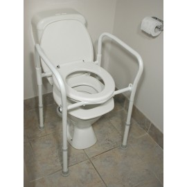 Folding over toilet aid